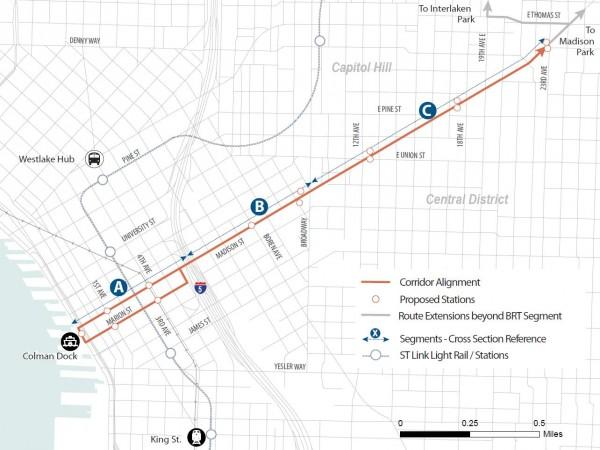 Madison Corridor Map