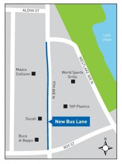 9th Ave Bus Lane Map