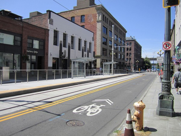Pioneer Square streetcar terminus-- Sounder Bruce (Flickr)