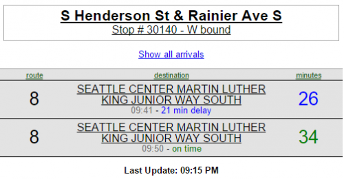 Is it really 21 minutes late, or is it ready to start on time?