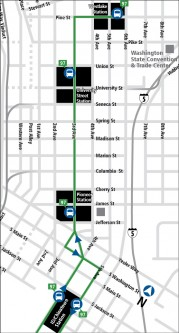Route 97 will pick up Link riders at Stadium Station, and take them downtown.