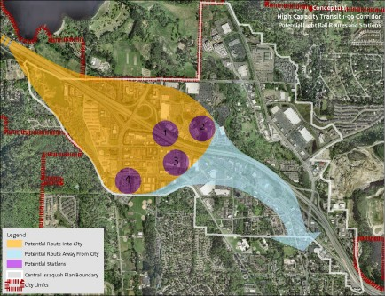 Central Issaquah Plan - Potential Future LRT Stations