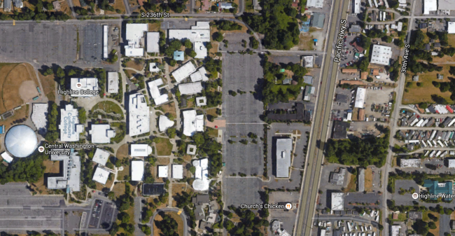 Highland Community College. The station will likely be near 30th Ave S, roughly 1/4 mile walk to the college.