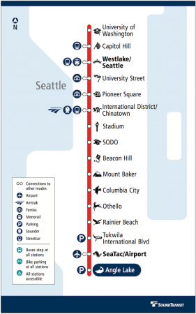 Link Red Line diagram from Sound Transit