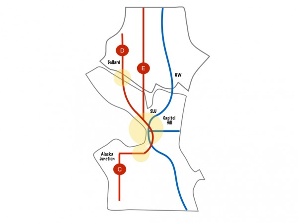 Current and Planned Link/RapidRide Routes