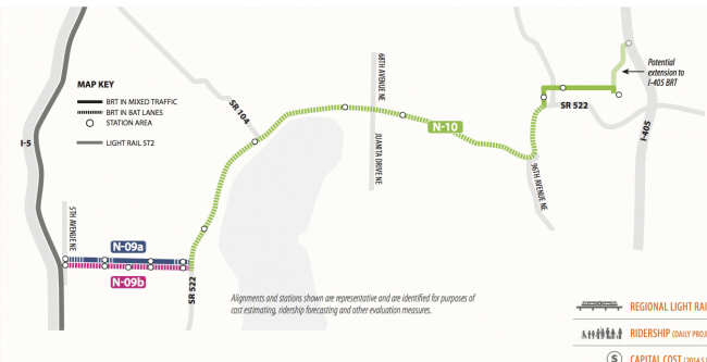ST3 Concept for BRT along SR 522 and NE 145th St