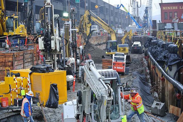 Seawall Construction (SDOT Photo – Flickr)