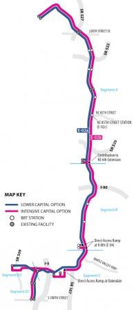I-405 BRT Corridor Options