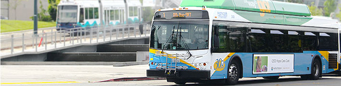 Pierce Transit Route 1 Bus and Tacoma Link Streetcar