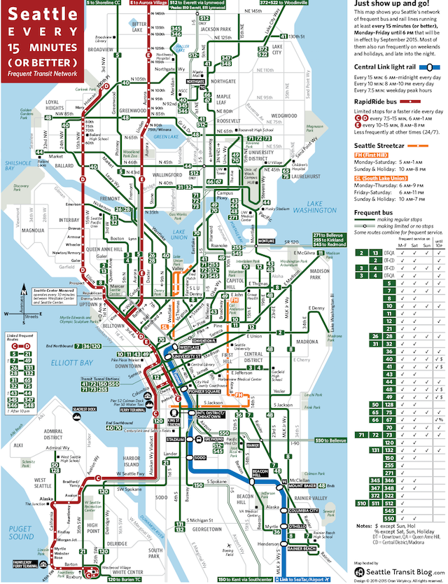 Seattle Frequent Network Maps Preview (Sept 2015) – Seattle