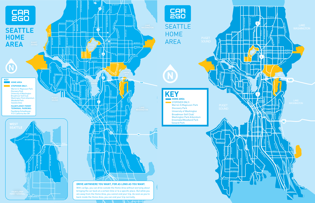 Car2go Expands Service Area And Adds 250 Cars Seattle Transit Blog