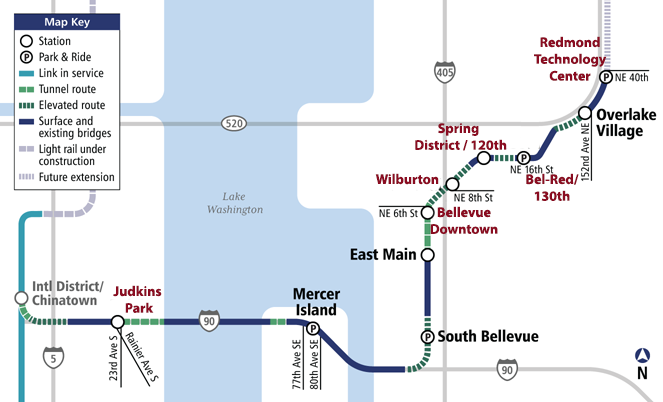 Light Rail Seattle Map Stops.East Link Stations Named