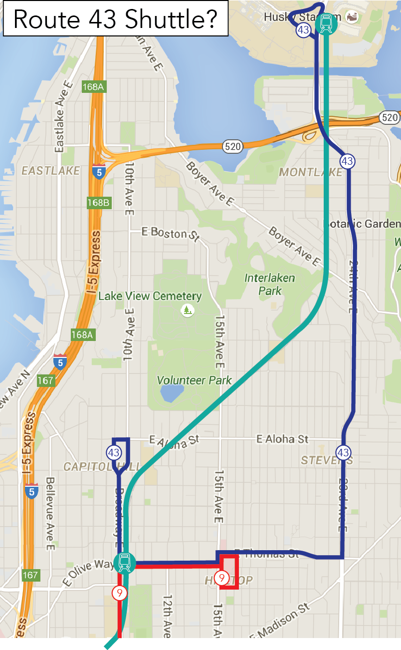 Options for Route 43 – Seattle Transit Blog