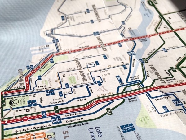 The Wrong Color Subway Map That Feels Just Right.The Seattle Transit Map And Guide Seattle Transit Blog