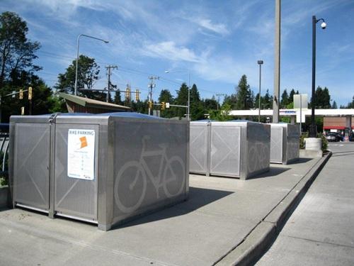 On-demand bike eLockers at Aurora Village