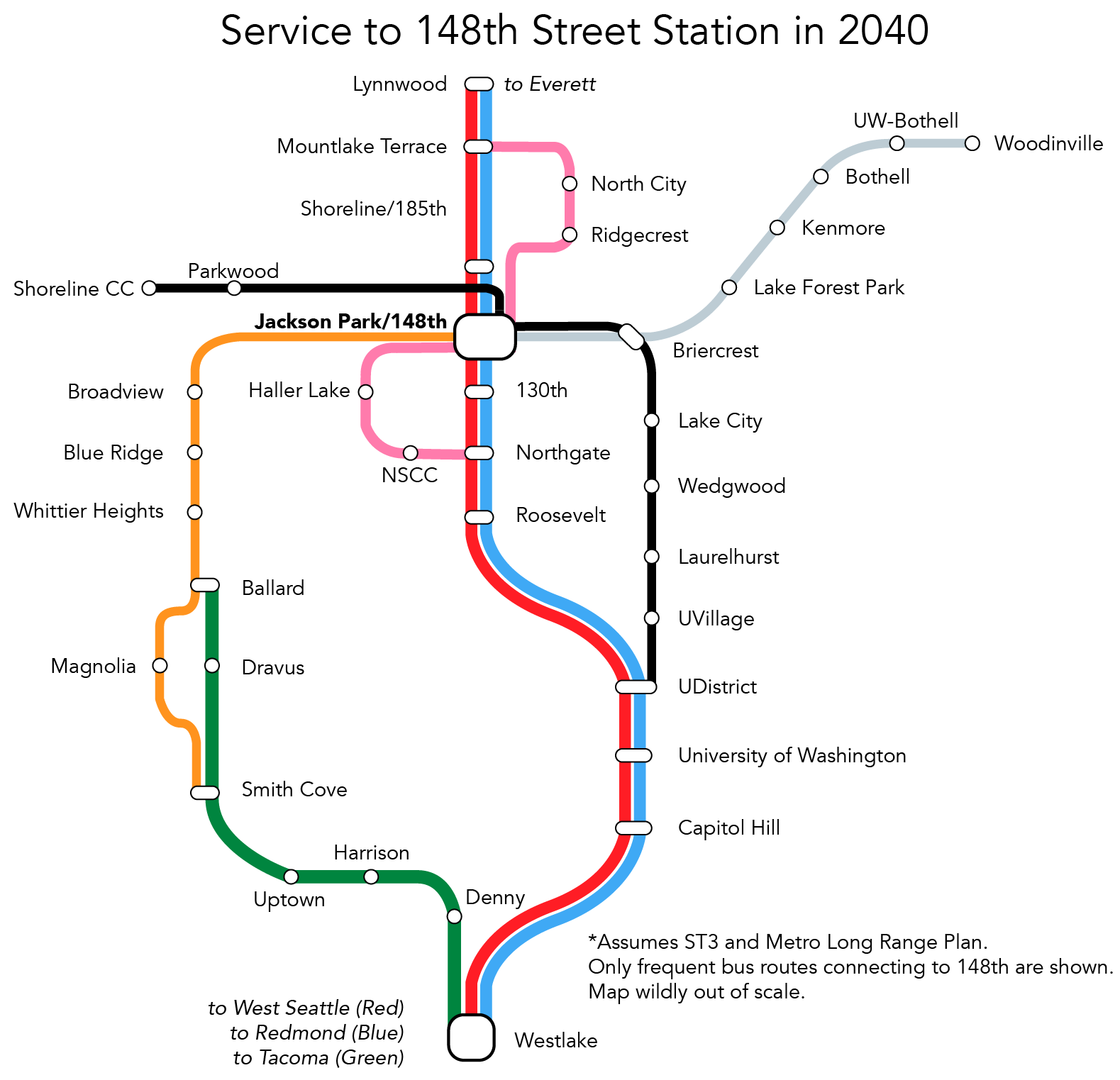 Shoreline 145th Street Service in 2040-01-01
