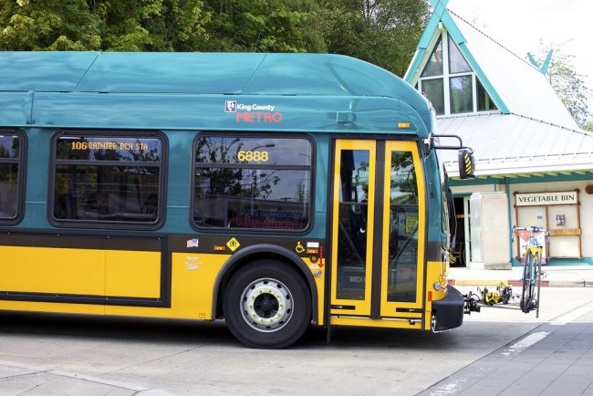 Route 106 at Rainier Beach Station. Photo by Oran Viriyincy.