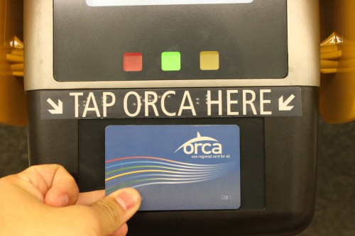 "Tap your Husky Card on ORCA readers to ""pay"" for the ride."