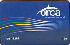 """Low-income """"ORCA LIFT"""" card, now honored on all Sound Transit services; or maybe this is a youth ORCA card"""