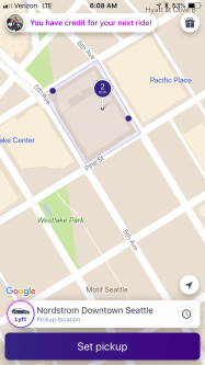 Lyft geolocation