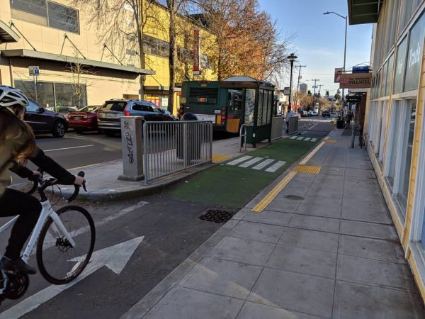 Bike lanes on NE 65th St