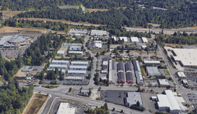 aerial view of 344th & I-5 in Federal Way