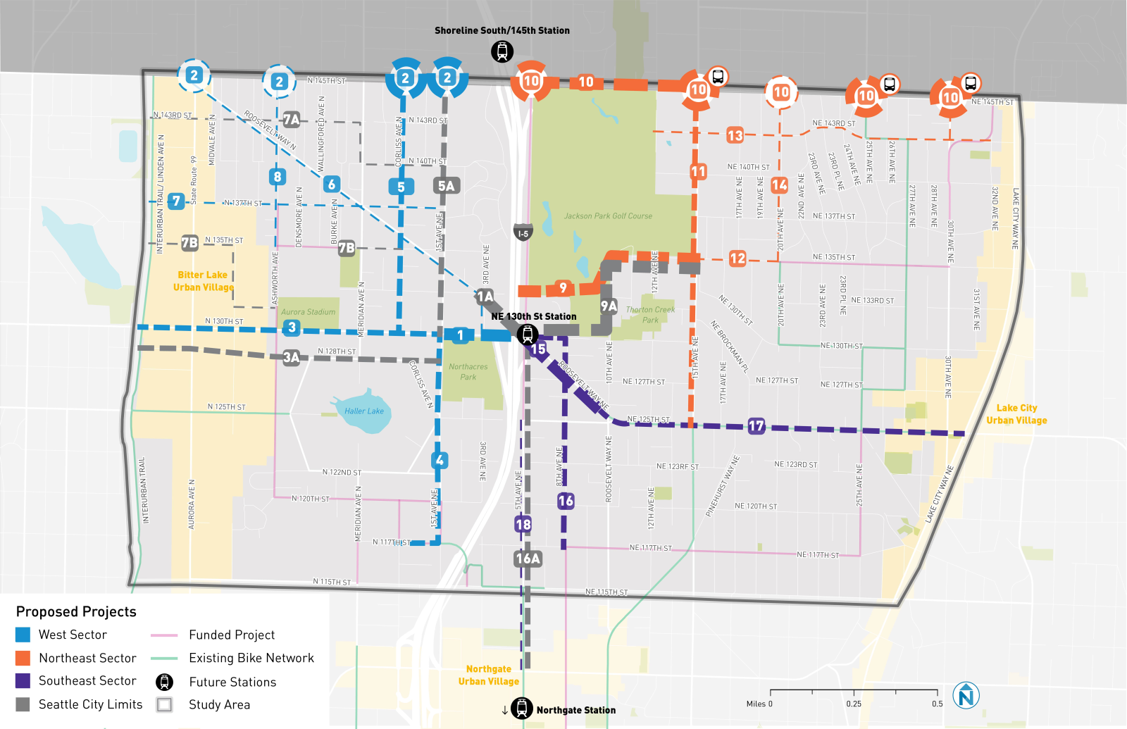 Seattle Presents Potential Improvements Around Light Rail Stations At 130th And 145th Seattle Transit Blog