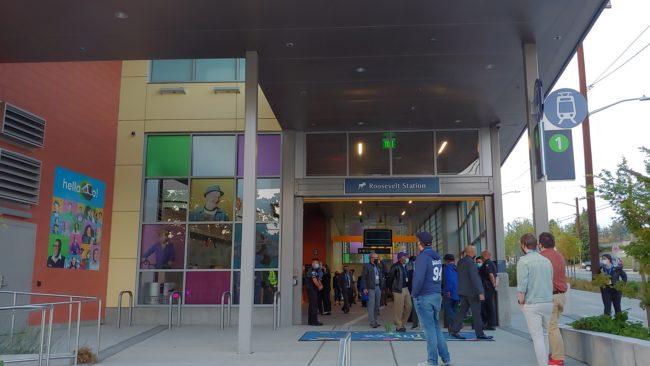 south entrance to Roosevelt Station